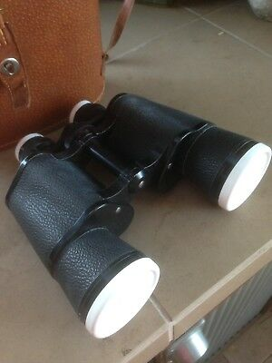 Vintage Omega Binoculars; 7x50 Field 7.1 deg. With Case and lens covers
