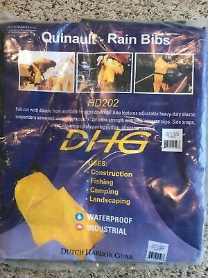 Dutch Harbor Gear Men's Quinault Rain Bib HD202 Forest GreenExtra Large XL New!