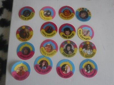 1970s pop star groovy hippie vintage stickers fabric patches 36 stickers