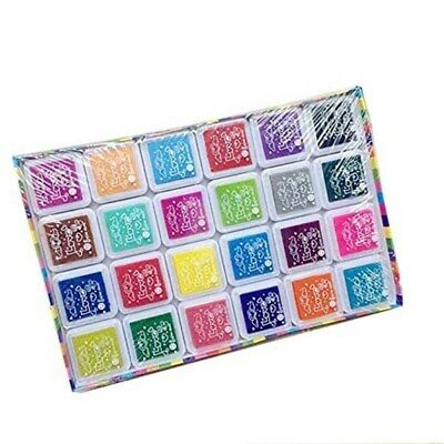 24 Colors Gradient Color Ink Pad Inkpad Stamp Oil Based Fingerprint Scrapbooking
