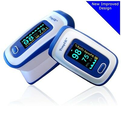 Premium Pulse Oximeter Finger TempIR Handheld Portable Digital Blood Oxygen New
