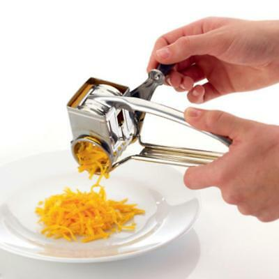 1x Kitchen Craft Rotary Stainless Steel Cheese Grater Lemon Chocolate Tools