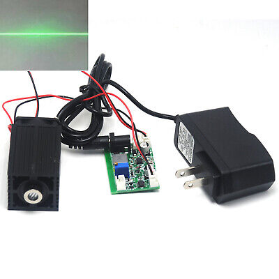 Focusable 80mW-100mW 532nm Green Line Laser Diode Module w 12V Driver & Fan