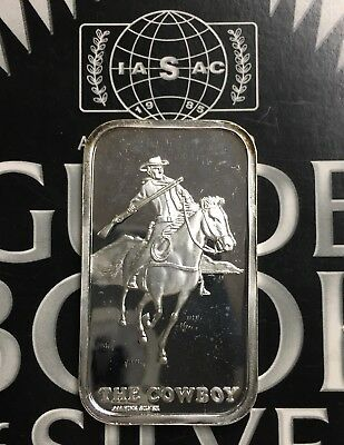 LIN-4 THE COWBOY Minted In 1973 By Lincoln Mint 999 SILVER ART BAR 1 TROY OZ