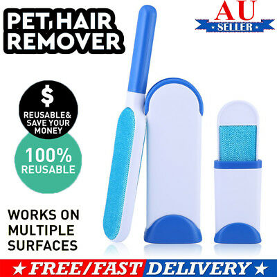 Fur Pet Fur & Lint  Remover Travel Size Hair Cleaner Clothes Fabric Brush