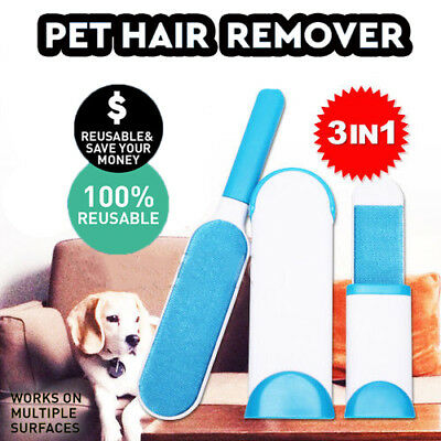 Furs Brusher Pet Hair  Lint Remover Brush Self-cleaning Base + Travel Size
