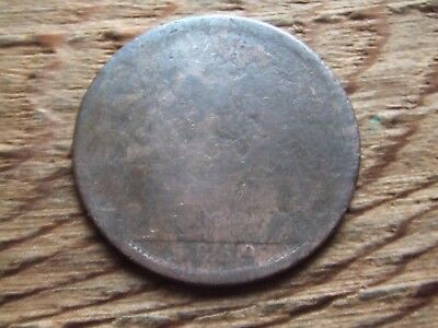 Queen Victoria.   1869,  Penny.  Very Rare Date.  Clear Date.  Worn Condition.