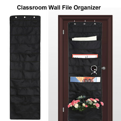 10 Tier Wall Files Organizer Storage Pocket Home Office Folders Hanging Holder