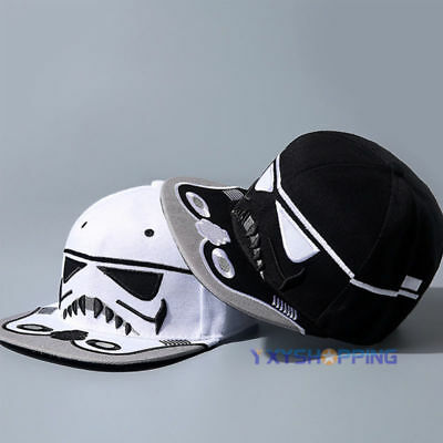 Unisex Star Wars Stormtrooper Snapback Baseball Cap Hip Hop Flat Bill Hat Caps
