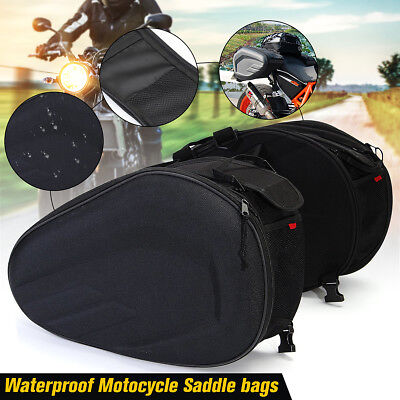 36-58L Universal Motorcycle Bike Pannier Luggage Saddle Bag Side Seat Waterproof