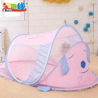 Cute Mosquito Net Babies Boys Girls Safety Travel Dog Duck Polyester Folded Baby