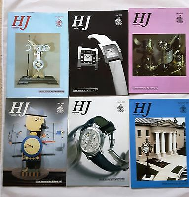 HOROLOGICAL JOURNAL MAGAZINES - 2000 - 9 copies - Jan, May to Dec.+ 2 bonus