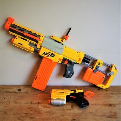 Nerf Bundle Recon CS-6 Rifle with Laser Dot & Tactical Sights + Blaster Gun VGC