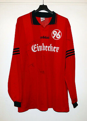 online retailer 68d8f 07ab0 HANNOVER 96 ADIDAS 90's match worn shirt #3 full signed trikot RARE