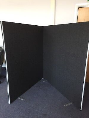 5ft charcoal divider privacy screens x 2