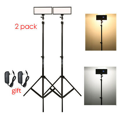 Photo Studio set 2x Viltrox L132T Bi-Color Dimmable LED Video Light + 2x Light S
