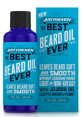 Just For Men THE BEST BEARD OIL EVER Leaves Beard Soft & Smooth without Clogging