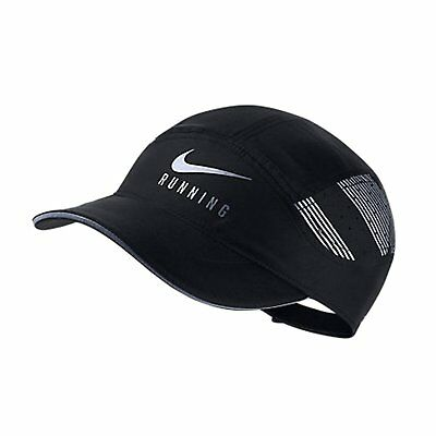 Nike Aerobill Adjustable Dri Fit Running Hat Nwt 878612-010 Black