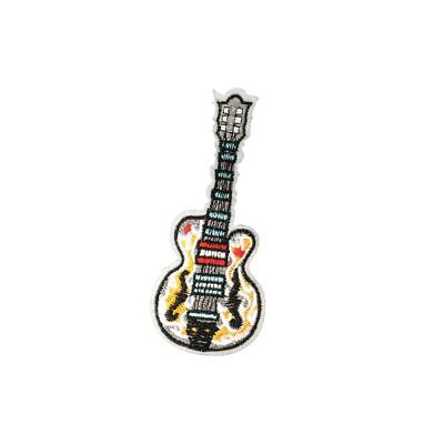 Guitar (Iron On) Embroidery Applique Patch Sew Iron Badge