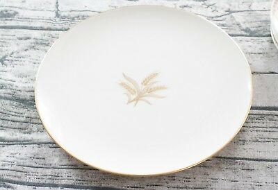 Lenox Gold Rimmed R-442 Wheat Pattern Dinner Plate 10-1/4""
