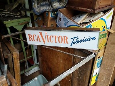 Antique RCA Victor television light-up sign,1950's ?