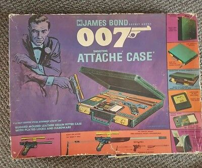 James Bond 007 vintage 1960s BOX & RED  CARDBOARD INSERT to hold the case  ONLY