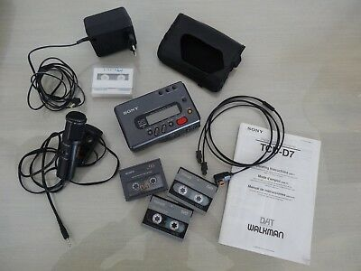 SONY DAT TCD-D7 Digital Audio Tape-Corder + housse, micro, cables, cassettes