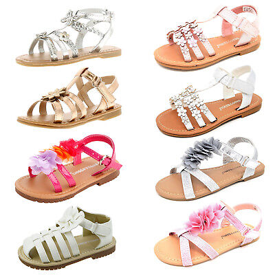 Girls Summer Sandals Children Casual Flat Holiday Princess Party Flip Flop Shoes