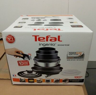 Tefal Ingenio ESSENTIAL 13 Piece Pan Set with Detachable Handles NO INDUCTION