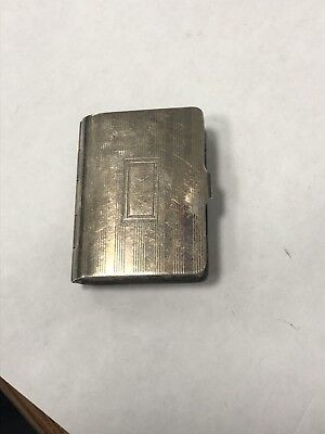 Sterling Silver Book Shaped Pill Box 22G Antique