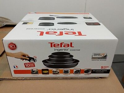 5 Pieces Non Stick Tefal Ingenio Essential Non Stick Saucepan NO INDUCTION