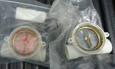 """2 New Fs05480 1/2"""" Npt With Orange And Blue Motor"""