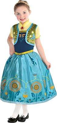 Disney Frozen Fever Supreme Deluxe Princess Anna Halloween/Dress-Up Costume NEW  sc 1 st  PicClick : anna halloween costume  - Germanpascual.Com