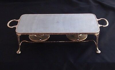 Rare Asprey London Silver Plated Double Burner Warming/Chafing Tray 20th Century