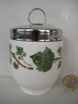 Crown Staffordshire King Size Double 2 Egg Coddler Green Vine Grape Ivy Ring Top
