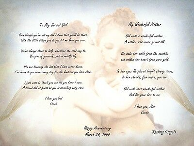 Personalized :Poems for Step-Dad and Mother Anniversary, Wedding Wall Decor