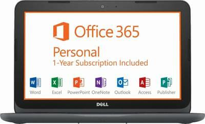 """New Dell Inspiron 11.6"""" AMD A6-9220e 4GB RAM 32GB eMMC Win 10 with Office 365"""