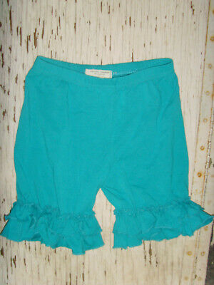 Adorable Essentials size 10t 8 to blue turquoise ruffle shorts layering fall GUC