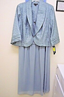 New Beautiful Le Bos 2 pc Jacket Evening or Mother of the Bride Dress Woman 22 W