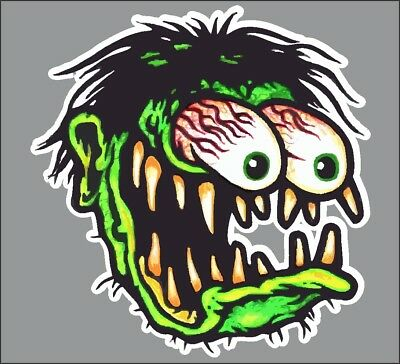 Old School Rat Fink Rat Rod Hot Rods Muscle Car Vintage Performance Sticker