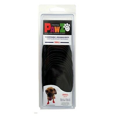 PawZ Protex Dog Boots Water-Proof Paws Disposable Reusable Small Black