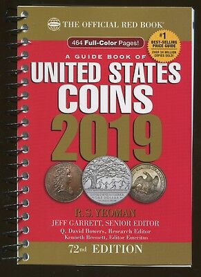 2019 The Official RED BOOK of United States Coins RS Yeoman 464 Full Color Pages
