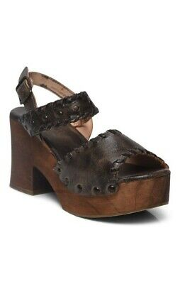 fa0155fc0554 NEW Bed Stu Kampala Sandal Boho Leather Distressed Wooden platform Taupe  Rustic