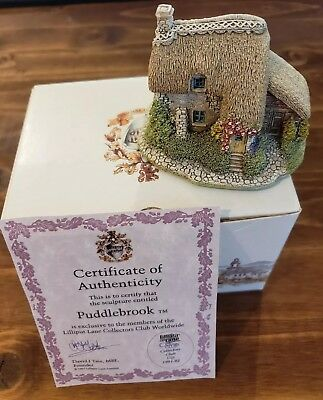 Lilliput Lane: Puddlebrook Cottage Members Collectors Club Gift 1991-1992