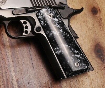 Altamont 1911 Grips Full-Size Classic Panel Smooth Black Pearl