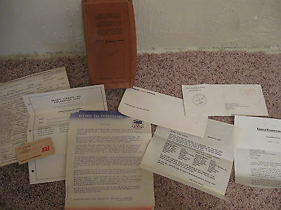 Braniff International Airways Papers Business Card Reference