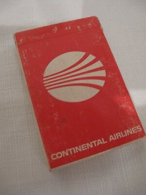 Continental Airlines Vintage 1970's Premium Bridge Playing Cards
