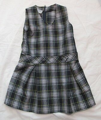 Dennis School Uniform Plaid Jumper sz 8 EUC