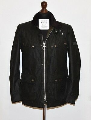 "Men's Barbour International Duke Wax Jacket Mwx0337Sg91 Size M Slim P2P 21"" Nwot"