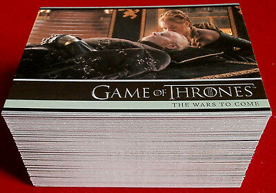 GAME OF THRONES - Season 5 - Complete Base Set (100 cards) - Rittenhouse, 2016